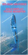BELGIAN AIR FORCE FOUGA MAGISTER SOLO AEROBATIC DISPLAY TEAM BROCHURE ± 1995