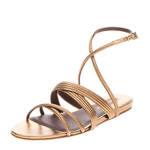RRP €315 BRUNO MAGLI Leather Ankle Strap Sandals EU 39 UK 6 US 9 Made in Italy