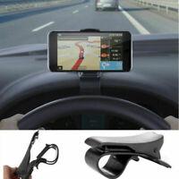 Supporto da Auto Cruscotto con Clip Pinza Porta Cellulare per Smartphone GPS