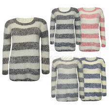 Polyester None Striped Jumpers & Cardigans for Women