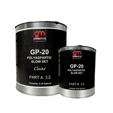 Concrete Sealer Clear Polyarspartic  GP-20 (1.25 Gal) High Gloss. Concrete Floor