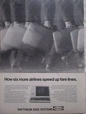 10/1973 PUB RAYTHEON DATA SYSTEMS PTS-100 TERMINAL AIRLINES THAI TWA EASTERN AD