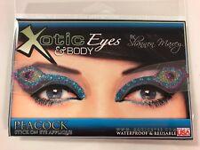 Xotic Exotic Eyes Peacock Glitter Crystal Make up Body/Face Tattoo Mardi Gras
