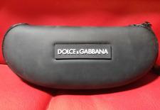 Zippered Dolce&Gabbana Eyeglass Case Hard Shell Black With Strap Sunglasses
