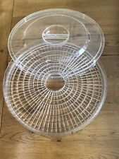 Plastic Food Tray & Lid  For Round Dehydrator