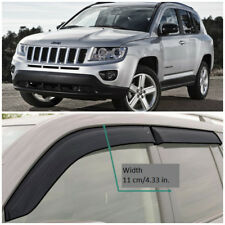 JE10713 Window Visors Sun Guard Vent Wide Deflectors For Jeep Compass 2006-2016