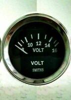 "Smiths Ancillary Battery Voltmeter Volt Gauge Chrome Rim 52mm 2"""