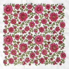 Indian Hand Block Print Dressmaking Cotton Pink Fabric Floral Sewing By 5 Yard