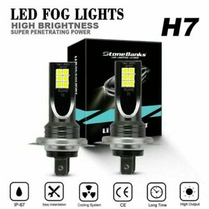 1Pair H7 LED Headlight Conversion 110W-30000LM 6000K Error-Free Canbus Bulb-12V