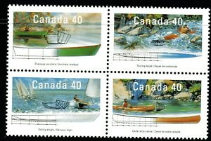 Canada 1991 Small Craft of Canada block of 4 Mint Unhinged