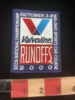 SCCA National Championship 2000 VALVOLINE RUNOFFS Car Race Patch 93YK