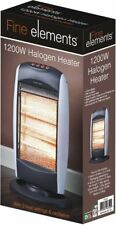 Fine elements 1200W Portable Home & Office Electric Oscillating Halogen Heater