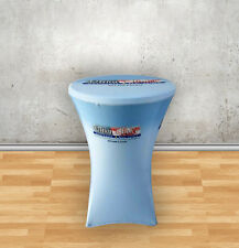 Custom Round Stretch Table Cover 31.5 x 29 inch