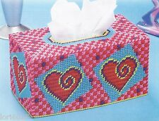 *Heart Swirls Tissue Cover*Pattern Only*Plastic Canvas Pattern*