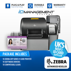 Zebra ZXP Series 9 Single-Sided Re-Transfer ID Card Printer • Free UK Delivery