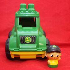 Mega Bloks John Deere Flip Top Tractor and Farmer
