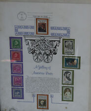 1975 Stamp First Day of Issue A Gallery of American Poets