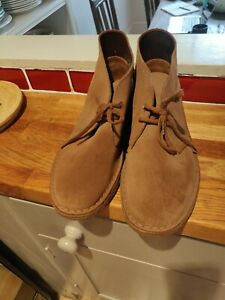 Clarks Originals Men's Suede Desert Boot Shoes Size 8 Brown