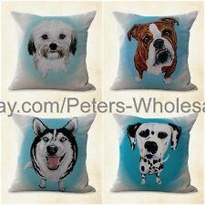 US SELLER- 4pcs home decoration pillow case cushion covers pet animal dog
