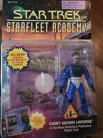 Cadet Geordi LaForge Starfleet Academy Figur Playmates Star Trek TNG Unopened