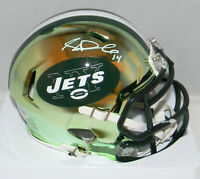 SAM DARNOLD AUTOGRAPHED SIGNED NEW YORK JETS CHROME SPEED MINI HELMET BECKETT