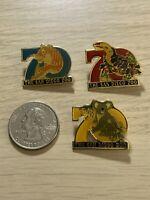 Lot of 3 The San Diego Zoo 70th Anniversary Travel Souvenir Pins Pinbacks #39015