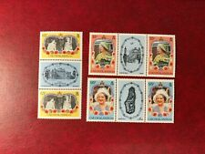 CAICOS ISLANDS 1985 MNH QUEEN MOTHER 85TH BIRTHDAY ROYALTY GUTTER PAIRS