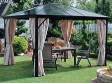 Aluminium Pavillon Gartenpavillon Pavillion Sonnenpavillon anthrazit natur Neu