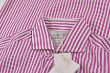 NWT Brunello Cucinelli Size Medium Basic Fit Dress Shirt White Fuchsia Brand New