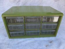 Vintage 9 Large Drawer Storage Cabinet Home Organizer Garage Parts Arts Crafts