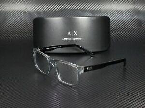 ARMANI EXCHANGE AX3016 8239 Transparent Smoke Demo Lens 53 mm Men's Eyeglasses