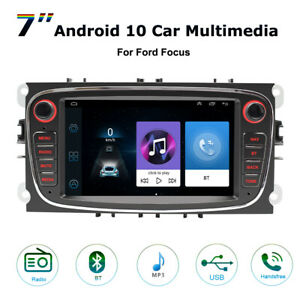 Android10 Car Video Stereo Radio GPS Bluetooth Player WiFi For Ford Focus Mondeo