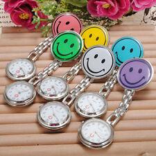 Smiley Face Nurse Doctor Brooch Pocket Pendant Quartz Watch Cartoon Pocket Watch