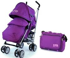 Zeta Voom Purple Buggy Stroller Pushchair inc Raincover Foot Muff & Changing Bag