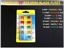 10PCS AUDI CAR VAN MINI ASSORTMENT FUSES SET -BLADE- 5 7.5 10 15 20 25 30 AMP