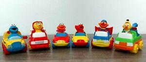"Sesame Street Diecast Car Lot Tyco Matchbox 1996 2.5"" Elmo Bert Ernie Big Bird"
