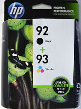92 black & 93 color HP ink DeskJet 5440 PhotoSmart 7850 C3180 C3150 printer 1510