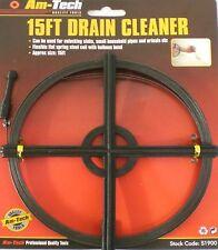 Scarichi Sturare strumenti flessibili vergella KIT 15ft per pozzi BAGNI CONDOTTE CLEANER
