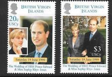 BRITISH VIRGIN ISLANDS SG1019/20 1999 ROYAL WEDDING MNH