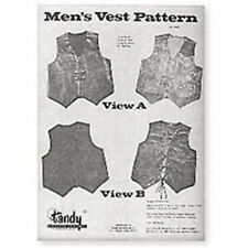 Men's Vest Pattern Pack 3 Sizes New 62666-00 Tandy Leather