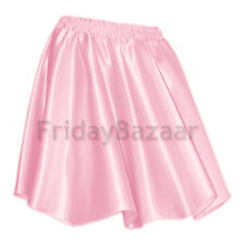 Women Lady Satin Pleated Retro High Waist Shiny Mini Skirt Club S~3XL | 27 Color