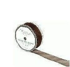 Roll of Sheer Organza Wired Ribbon chocolate 32mm x 20M