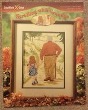 Strolling With Grandpa Counted Cross Stitch Pattern #03-214
