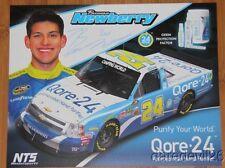 2013 Brennan Newberry signed Qore-24 Chevy Silverado NASCAR CWTS postcard
