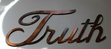 Metal Wall Art Decor TRUTH Copper/Bronze Plated