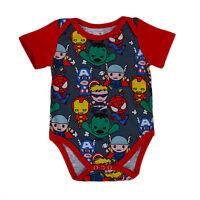 Newborn Baby Boy SuperHeros Romper Bodysuit Jumpsuit Summer Clothes Outfit 0-18M