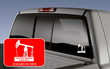 Oil pump jack derrick CAN YOU HANDLE A BIG RIG vinyl decal sticker CAR TRUCK