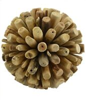 """Driftwood Decorative Ball Orb Sphere Table Top Centerpiece Nautical Home 6"""""""