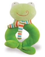 Rich Frog RING RATTLE FROG baby plush rattle toy NEW with tag green frog