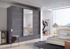 Brand New Modern Bedroom Sliding Door Wardrobe ARTI 1 250cm in Grey Matt Mirror